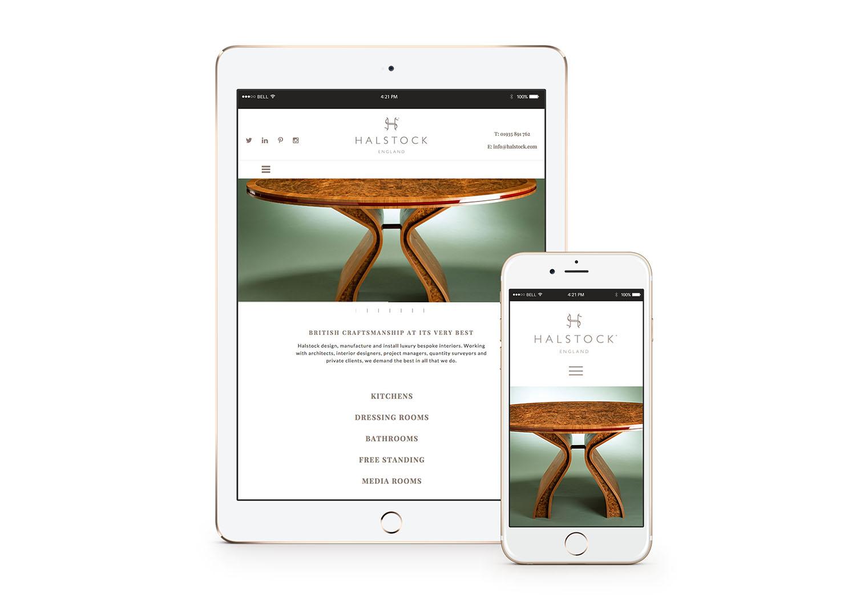 website re-design for Halstock