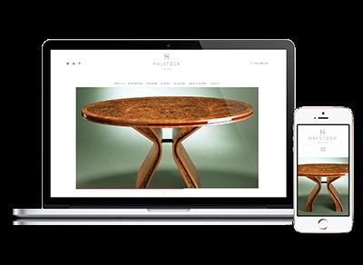 Halstock website re-design